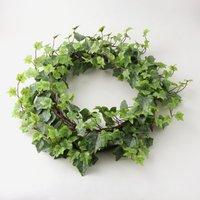 image-Outdoor Ivy Wreath Weather Resistant 50cm Green