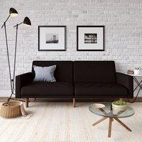 Paxson Linen Sofa Bed Black
