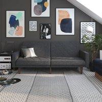 Paxson Linen Sofa Bed Dark Grey