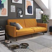 Paxson Linen Sofa Bed Mustard