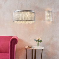 image-Endon Galina Crystal Wall Light Chrome Chrome