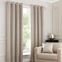 Ojen Sand Eyelet Curtains Brown