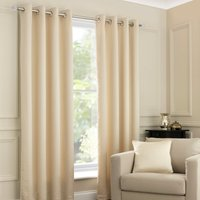 Ojen Oatmeal Eyelet Curtains Beige