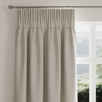 Square Weave Natural Pencil Pleat Curtains Brown