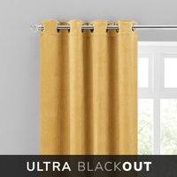Isla Thermal Blackout Ultra Citrus Eyelet Curtains Yellow