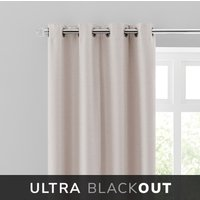 Montreal Thermal Blackout Ultra Natural Eyelet Curtains Brown