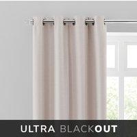 Montreal Thermal Blackout Ultra Natural Eyelet Curtains Brown