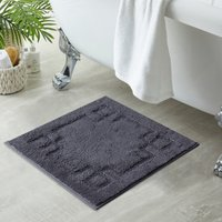 Luxury Cotton Charcoal Shower Mat Charcoal (Grey)
