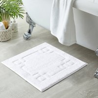 Luxury Cotton White Shower Mat White