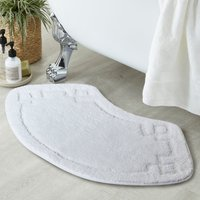 Luxury Cotton Oval White Bath Mat White