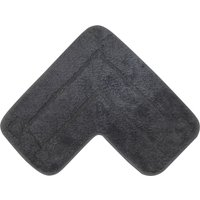 Luxury Cotton L Shape Charcoal Bath Mat Charcoal