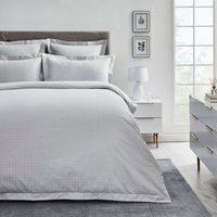 Dorma Purity Marlia Silver Cotton Jacquard Duvet Cover and Pillowcase Set Light Grey