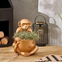 Gold Monkey Planter Gold