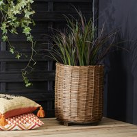 Willow Planter with Handles Natural (Brown)