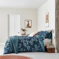 Joules Country Critters 100% Cotton Duvet Cover and Pillowcase Set Navy Blue