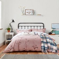 Joules Flying Mallards 100% Cotton Duvet Cover and Pillowcase Set Pink and Blue