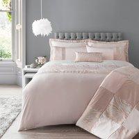 Keeley Pink Jacquard Duvet Cover and Pillowcase Set Blush (Pink)