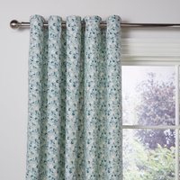 Effie Blue Blackout Eyelet Curtains Blue