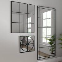 Apartment Full Length Mirror Black 180x80cm Silver