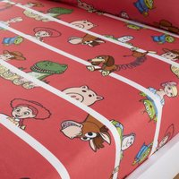 Disney Toy Story Fitted Sheet Red, White and Green