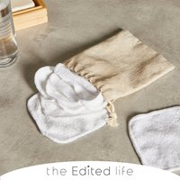 Bamboo Blend Pack of 7 Face Cloths with a White Cotton Bag Bamboo