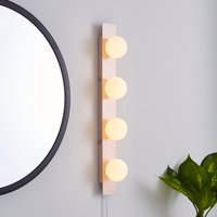 Coco Hollywood Mirror Light Matt Pink and White White