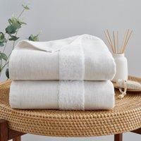 Hamam Linen Blend Bath Towel Brown