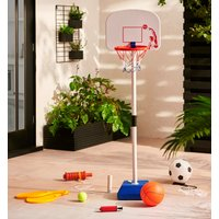 3 in 1 Swing Tennis, Basketball and Football Set MultiColour