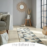 Triangle Patterned Runner Charcoal (Grey)