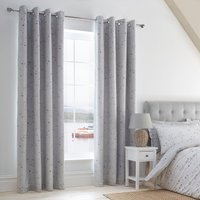 Padstow Blue Blackout Eyelet Curtains White and Blue