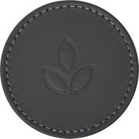 Elements Vete Set of 4 Faux Leather Coasters Light Grey