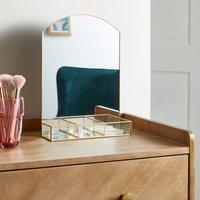 Gold Trim Dressing Table Mirror 35cm Gold