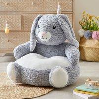 Bunny Sitting Plush Light Grey