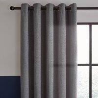 Elements Boucle Grey Eyelet Curtains Grey