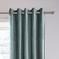 Dorma Lymington Mineral Chenille Eyelet Curtains Blue Grey