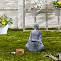 Grow Your Own Herbs with Buddha Planter Light Grey