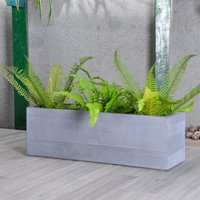 Fibre Clay Grey Striped Trough Light Grey