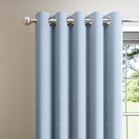 Boston Ashley Blue Blackout Eyelet Curtains Blue