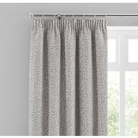 Chenille Spot Grey Pencil Pleat Curtains Grey