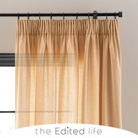Recycled Weave 2Way Soft Ochre Curtains Yellow