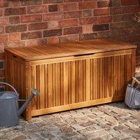 Honolulu Acacia Wood Outdoor Storage Box Wood (Brown)