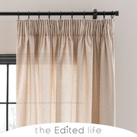 Recycled Weave 2Way Sand Curtains Brown