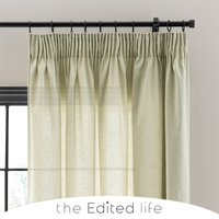Recycled Weave 2Way Fern Curtains Green