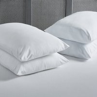 Pack of 4 Extra Full Duck Feather Pillows White