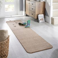 Eleni Washable Runner Brown and White