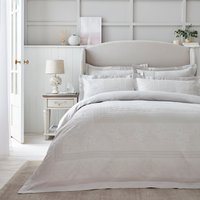 Dorma Purity Paloma 100% Cotton Grey Jacquard Duvet Cover Light Grey
