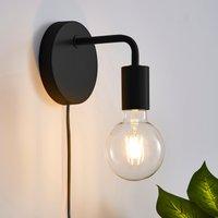 Koppla Plug-In Wall Light Black