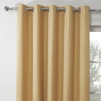 Emerson Old Gold Eyelet Curtains Old Gold