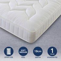 Comfort Master Soft Medium Quilted Mattress White