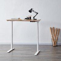 Koble Apollo Oak Effect Adjustable Standing Smart Desk Mid Oak (Brown)